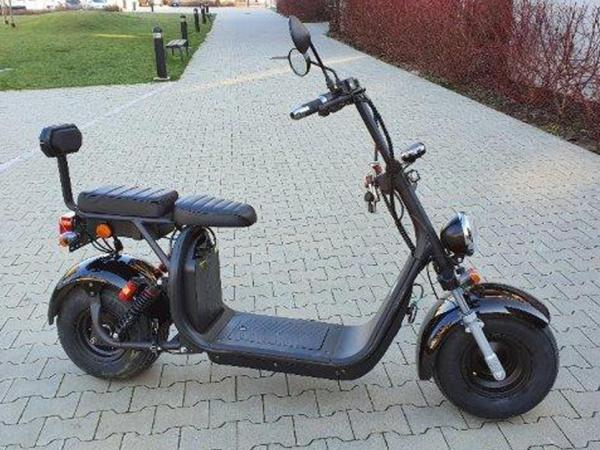 "Elektrický Chopper® Black 45km/h Model: ""CP-1"""